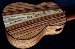 zebra wood used in ukulele constuction