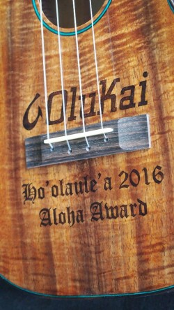 OluKai Ho'olaule'a Ukulele Aloha Award