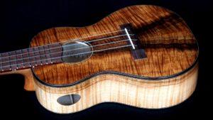 Silky, Curly Maple and Koa Concert Ukulele