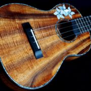 Dark Koa with Plumeria Flower Inlay