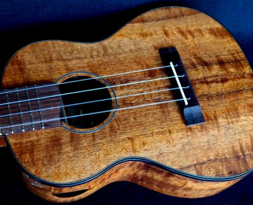 custom Koa Tenor Ukulele for Hale Ukulele in San Diego