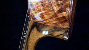 custom chocolate heart mango tenor ukulele