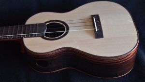 Custom Tenor Ukulele of Mun Ebony and Adirondak Spruce
