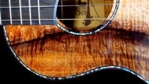 colorful curly koa custom tenor ukulele