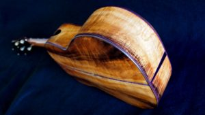 colorful culry koa custom tenor ukulele