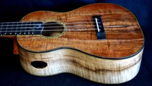 Koa and Myrtle Wood Combo Tenor Ukulele