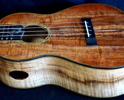 Koa and Myrtle Wood Combo Tenor Ukulele