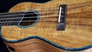 blond koa blue paua abalone concert
