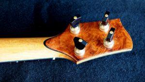 blond koa and blue paua concert ukulele