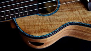 blone koa and blue paua concert ukulele