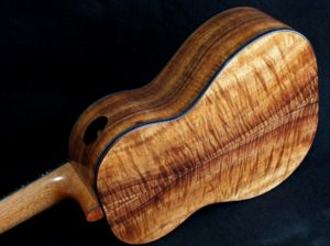 blond curly koa tenor ukulele
