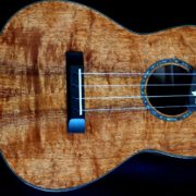 plumeria inlay and koa tenor ukulele
