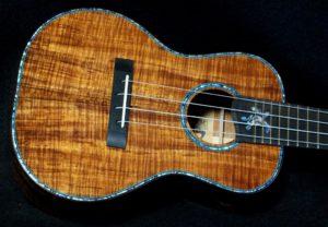 blue honu koa concert ukulele