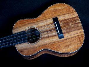 rope purfling and koa tenor ukulele
