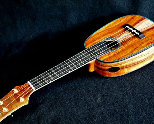 blue soprano pineapple ukulele