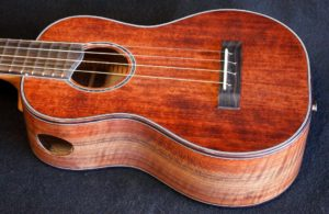 redwood walnut long neck concert ukulele