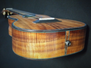 honu tenor ukulele with mi-si amplification by kimo ukulele san diego ca