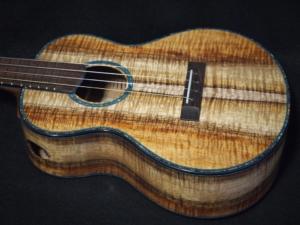 tri-color koa super tenor ukulele