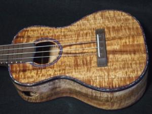 long neck koa concert ukulele