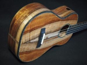 tri-color koa baritone ukulele