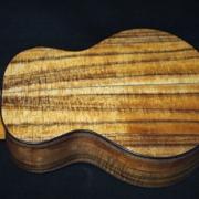 earthtone cedar and koa super tenor ukulele