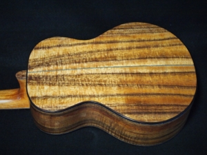 earthtone cedar and koa super tenor ukulele