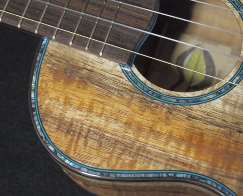 another tri-color koa super tenor ukulele
