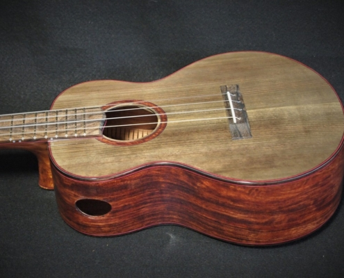 anciient spruce and bubinga super tenor ukulele