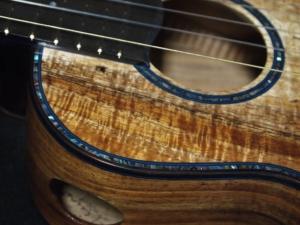 Abalone purfling on the san francisco dream ukulele