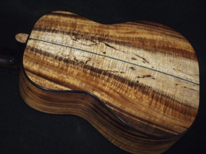 spalted Hawaiian koa on the san francisco dream ukulele