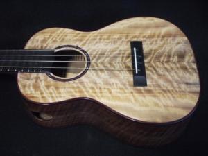 myrtle and black walnut ukulele