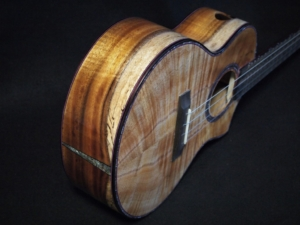 cutaway koa super tenor ukulele