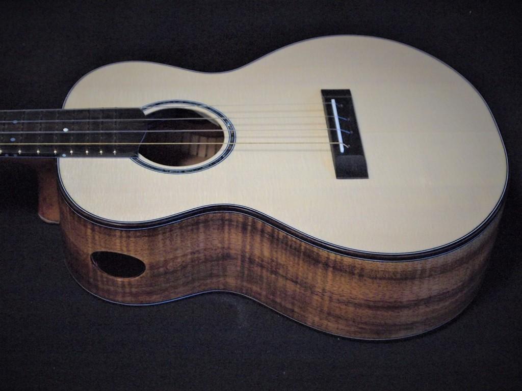 Swiss moon and koa ukulele