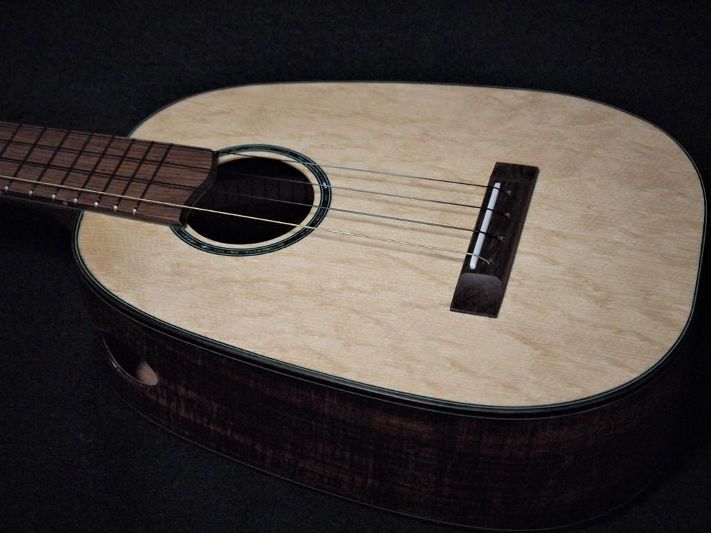 tenor bearclaw and koa pineapple ukulele