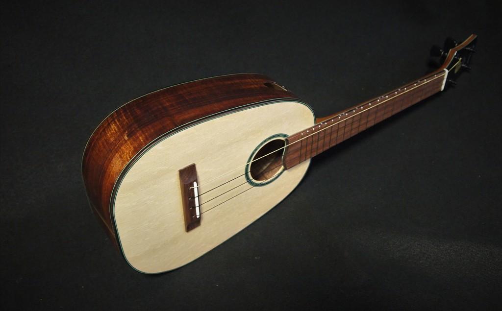 tenor bearlaw and koa pineapple ukulele