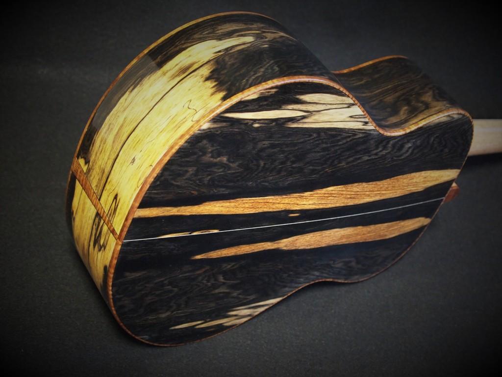 black and white swiss moon ukulele