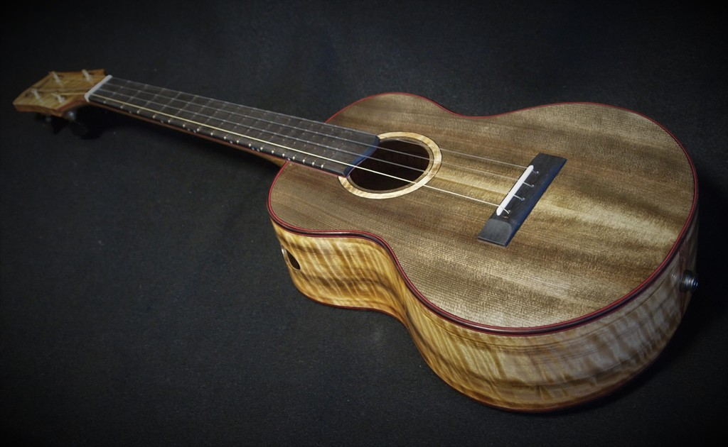 ancient spruce and myrtle super tenor ukulele
