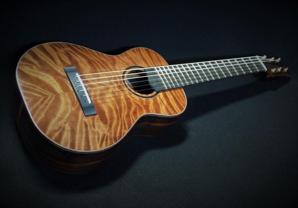 six string redwood baritone ukulele