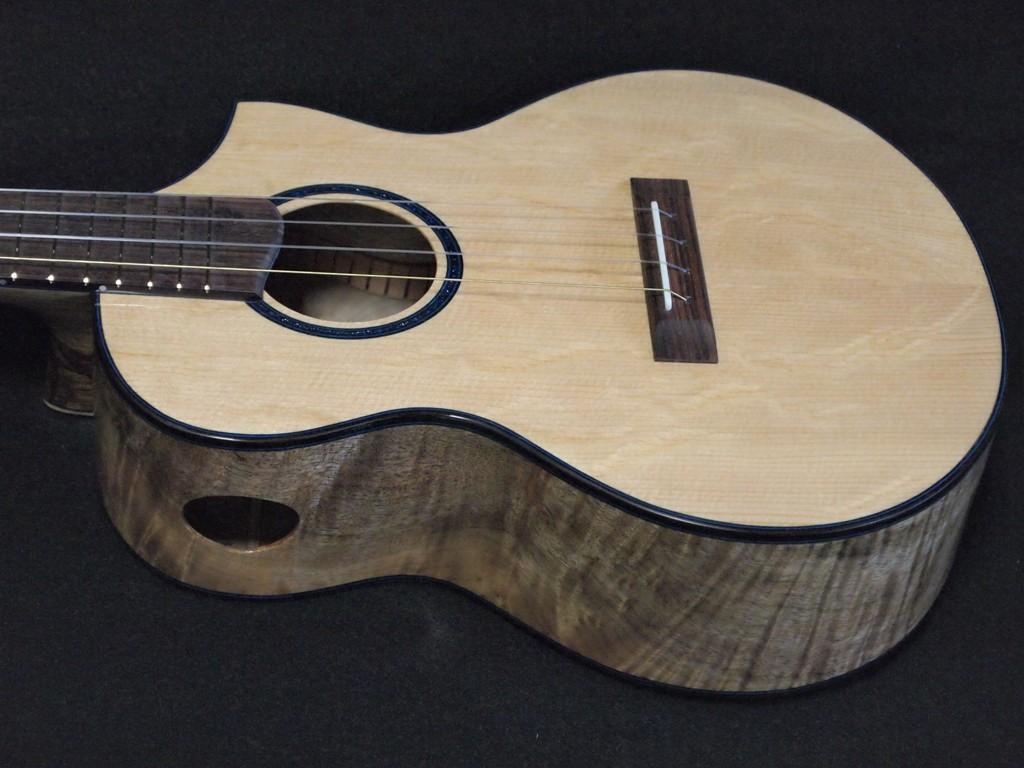 myrtle and bear cutaway ukulele
