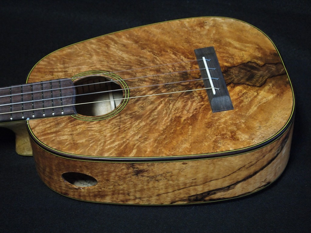 mango wood lover's pineapple ukulele