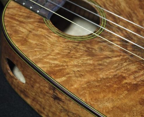 mango wood lover's pineapple ukulele