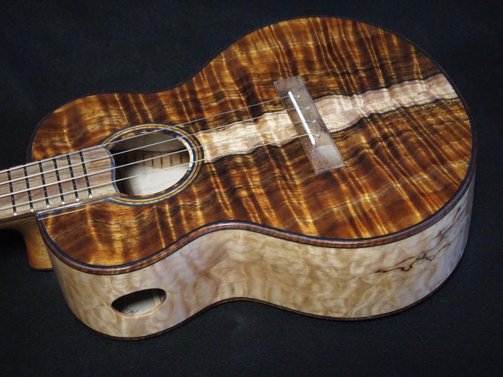 quilt and curl super tenor ukulele