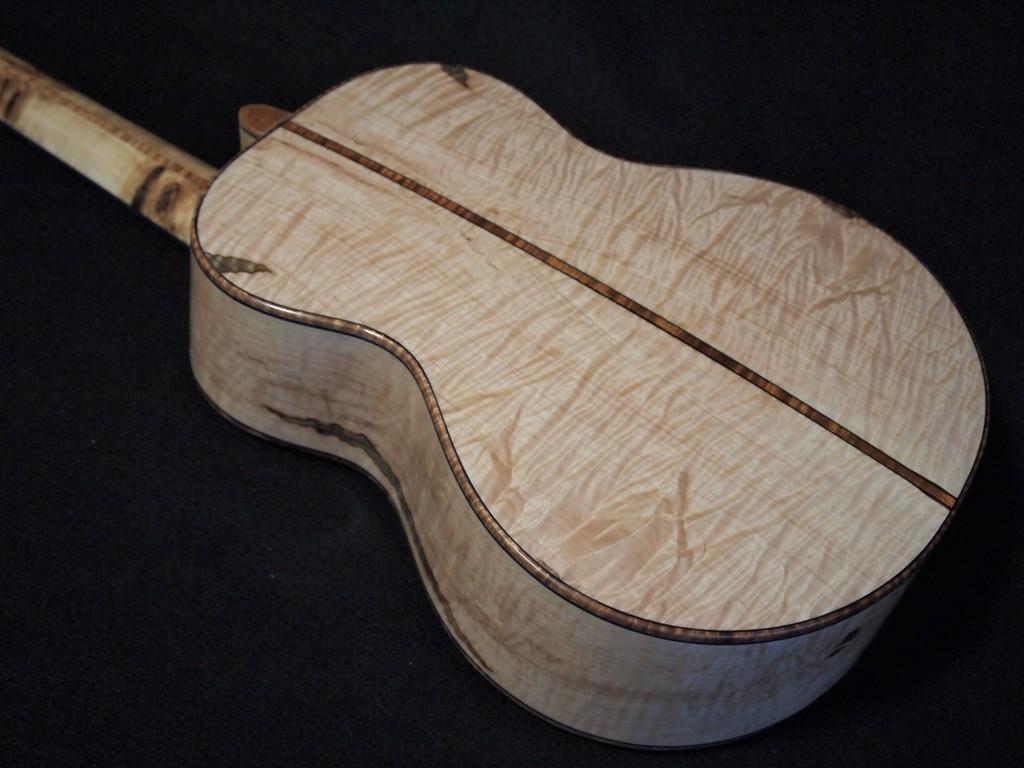 maple and mappa burl custom tenor ukulele