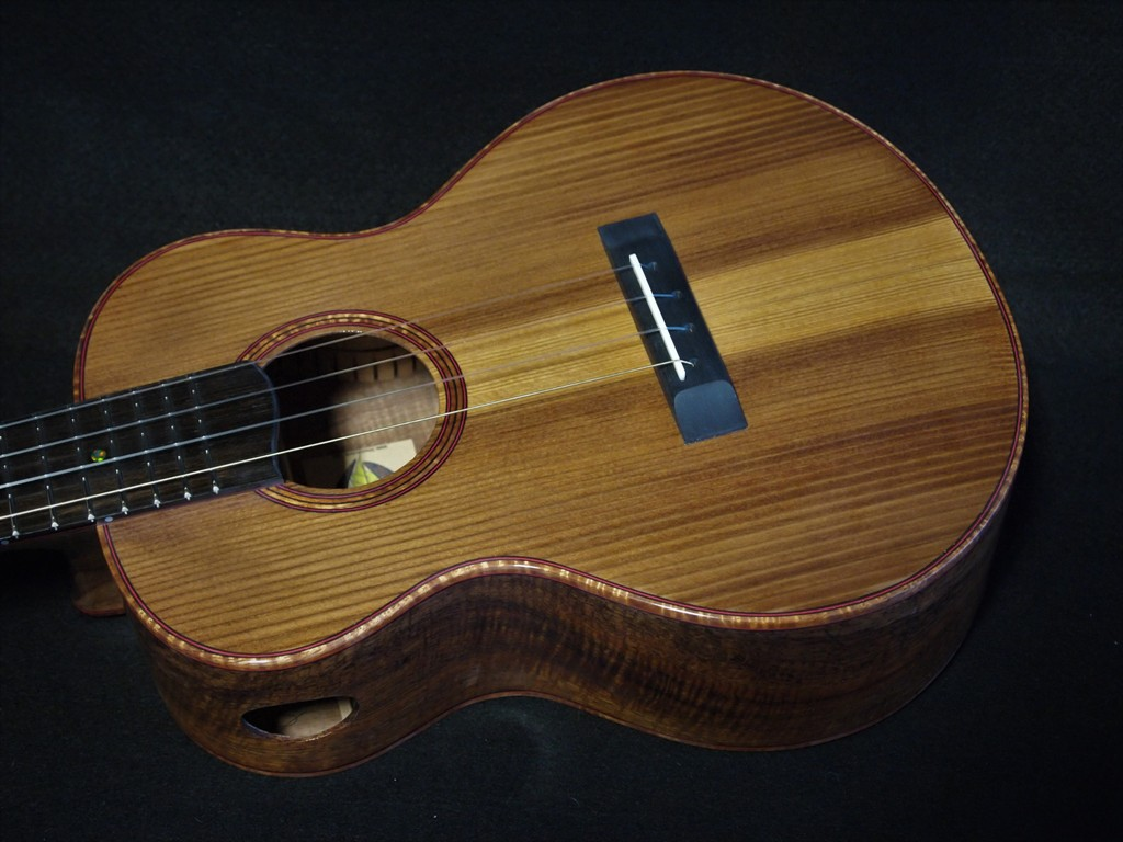 koa and pier piling fir ukulele