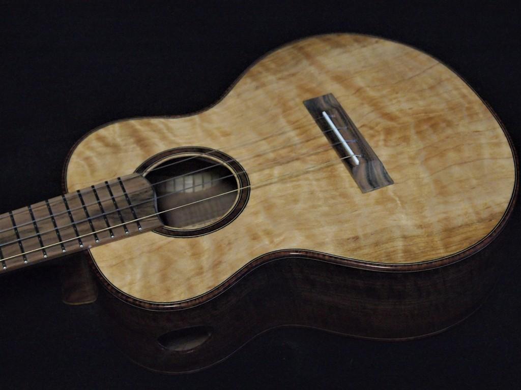 port orford cedar and claro walnut ukulele